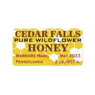 Tarro puro de la miel del Wildflower de la señal Etiquetas De Dirección