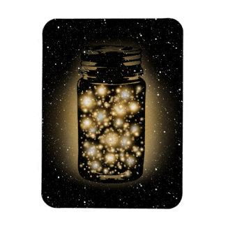 Tarro que brilla intensamente de luciérnagas con l imán flexible