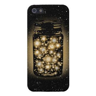 Tarro que brilla intensamente de luciérnagas con l iPhone 5 fundas