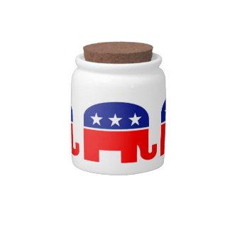 tarro republicano del caramelo del elefante plato para caramelo