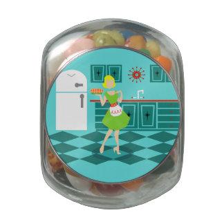 Tarro retro del caramelo de la cocina frascos de cristal