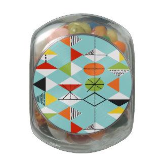 Tarro retro del caramelo del vidrio de modelo del frascos de cristal