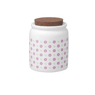Tarro rosado del caramelo de la flor jarra para caramelo