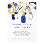 Tarros de albañil de los azules marinos y del anuncio personalizado