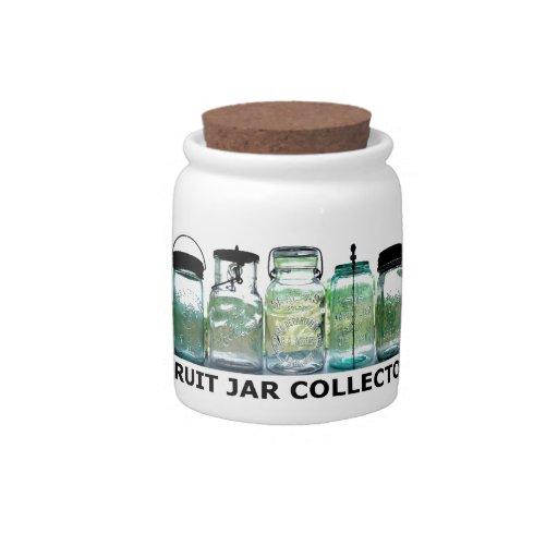 Tarros de albañil del vintage del colector del jarra para caramelo