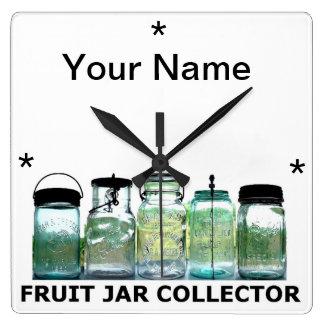 Tarros de albañil del vintage del colector w/YourN Reloj