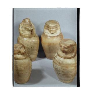 Tarros de Canopic de Hor-ir-aa, Saite (alabastro)