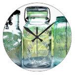 Tarros de enlatado de Lima Ohio del vintage del Reloj Redondo Grande
