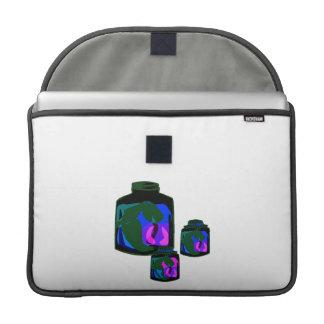 Tarros de pimientas de la púrpura del verde azul funda para macbooks