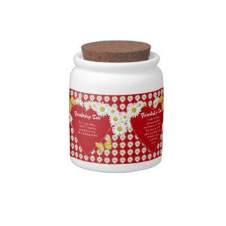 Tarros del caramelo de la receta del té de la amis platos para caramelos