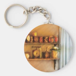 Tarros - estantes de la cocina llavero redondo tipo pin