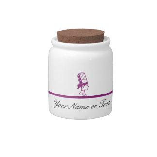 Tarros personalizados del caramelo del cocinero jarras para caramelos