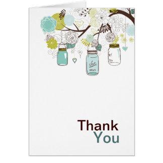 Tarros y flores de albañil tarjeta pequeña