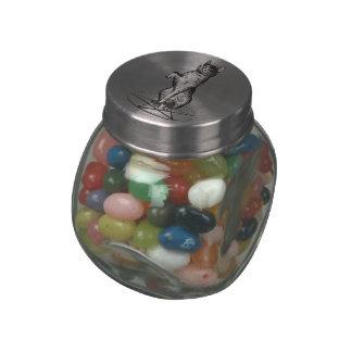 tarros y latas del caramelo del gato de Halloween Frascos De Cristal