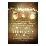 tarros y luces de albañil rústicos que casan invit comunicados personales
