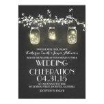 tarros y luces de albañil rústicos que casan invitacion personalizada