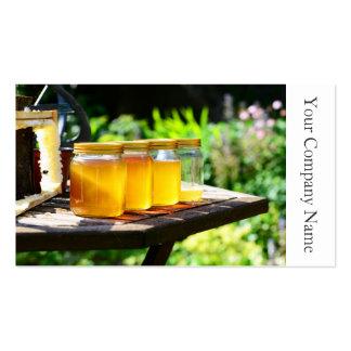 Tarros y panal - tarjeta de la miel de visita tarjetas de visita