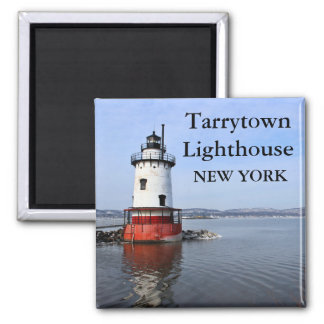 Tarrytown Lighthouse, New York Square Magnet