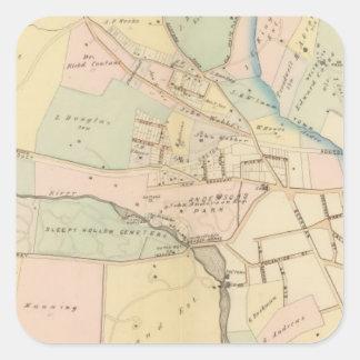 Tarrytown, N Tarrytown, Nueva York Pegatinas Cuadradases Personalizadas