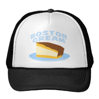Tarta de crema de Boston Gorros Bordados