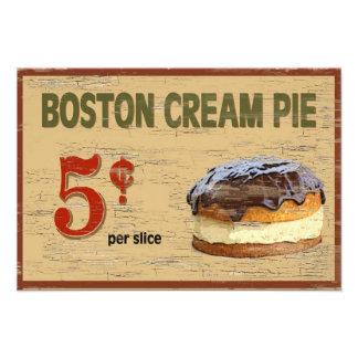 Tarta de crema de Boston Foto