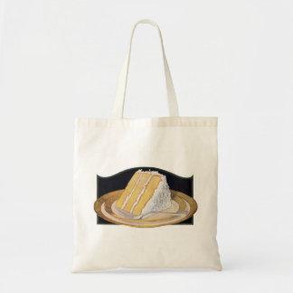 Tarta de crema retra del coco de la comida del kit bolsa tela barata