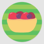 Tarta de Wildberry Pegatina Redonda
