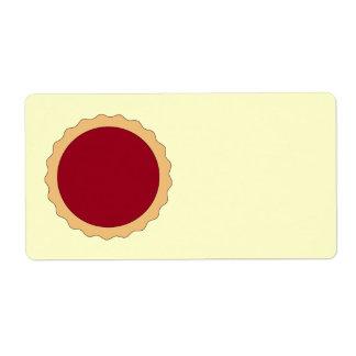 Tarta del atasco. Rojo de la frambuesa Etiquetas De Envío