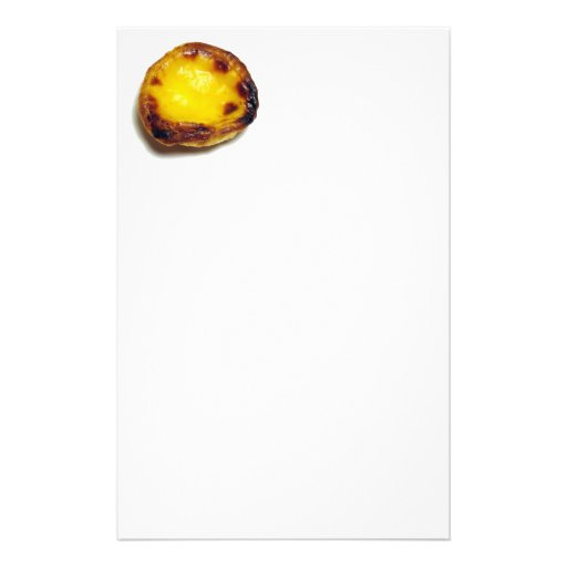 Tarta portuguesa de las natillas papeleria de diseño