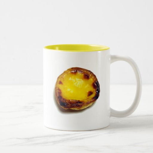 Tarta portuguesa de las natillas tazas de café