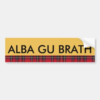 Tartan Alba Gu Brath Scotland Forever Sticker