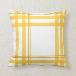 Tartán amarillo - sobre diseño clasificado almohada