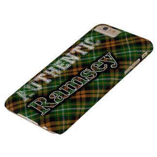 Tartán anaranjado escocés de la caza de Ramsey Funda De iPhone 6 Plus Barely There