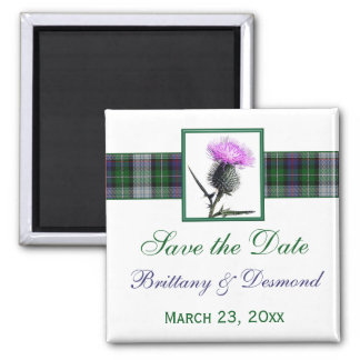 Tartan and Thistle Wedding Save the Date Magnet
