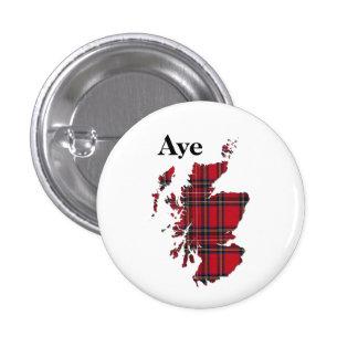 Tartán Aye Escocia Pinback del indyref