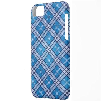 Tartán azul carcasa para iPhone 5C