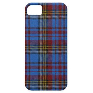 Tartán azul marino exquisito funda para iPhone SE/5/5s