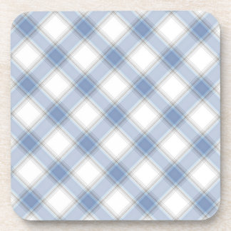 Tartán azul y gris portavasos