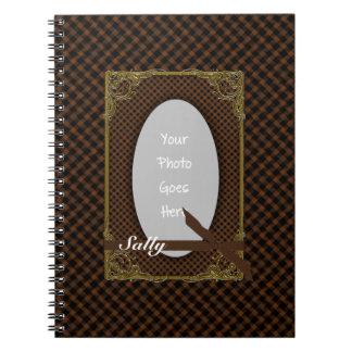 Tartan Brown and Black Photo Notebook