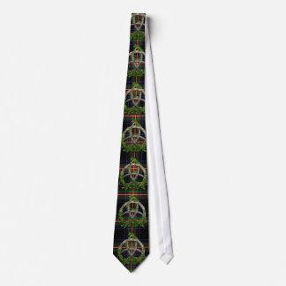 Tartán céltico del nudo de la trinidad y del vatio corbatas