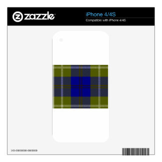 Tartan Clan Oliphant Decals For iPhone 4