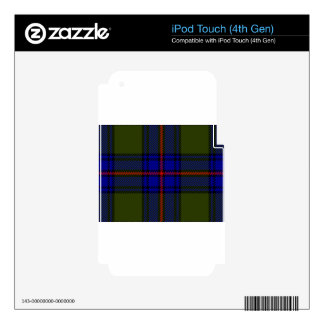 Tartan Clan Shaw Decals For iPod Touch 4G