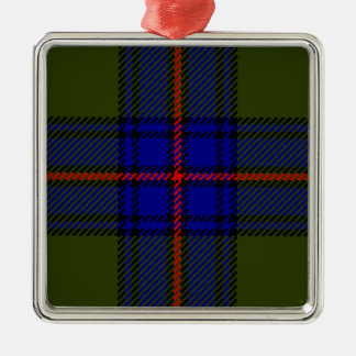 Tartan Clan Shaw Metal Ornament