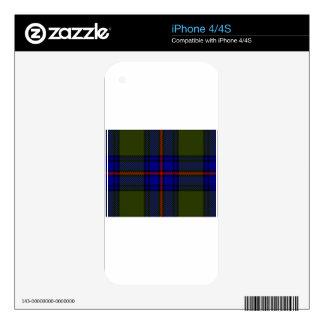 Tartan Clan Shaw Skins For iPhone 4