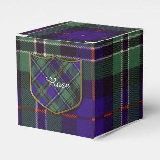 Tartán color de rosa del escocés de la tela cajas para regalos