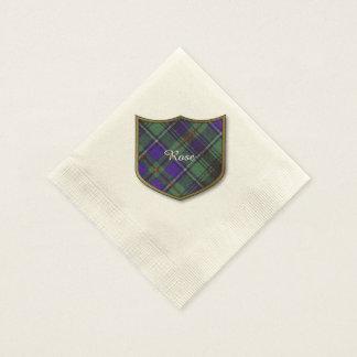 Tartán color de rosa del escocés de la tela servilleta de papel