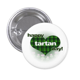 """Tartan Day """"Heart and Thistles"""" Button"""