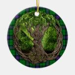 Tartán de Armstrong del clan y árbol de la vida cé Ornamentos De Reyes Magos