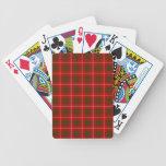 Tartán de Bruce del clan Baraja Cartas De Poker