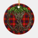 Tartán de Fraser del clan y árbol de la vida célti Ornamentos De Reyes